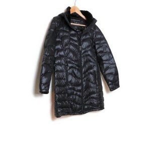Andrew Marc Black Packable Down Jacket L